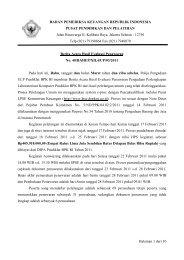 Halaman 1 dari 10 BADAN PEMERIKSA KEUANGAN REPUBLIK ...