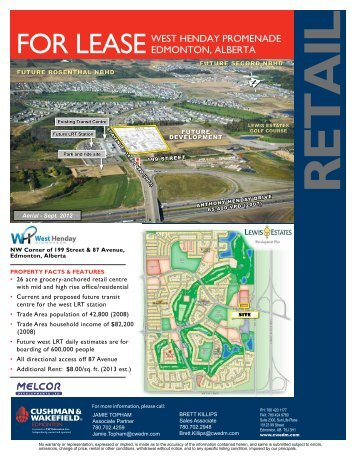 for LeaseWest Henday promenade edmonton, aLberta