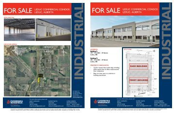 for SALE LEDUC CoMMErCIAL ConDoS LEDUC, ALbErtA NISKU ...