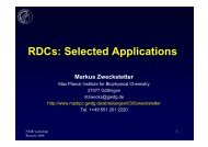 d) RDCs Selected Applications