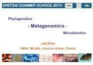 Phylogenetics - Metagenomics - Microbiomics