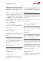 Téléchargez le lexique [PDF] - Publisuisse SA