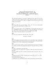 Miscellaneous Prolbems in Commutative Algebra