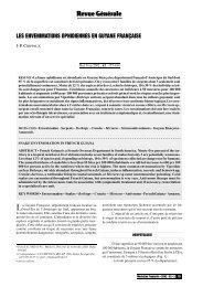 Les envenimations ophidiennes en Guyane françaises - Médecine ...