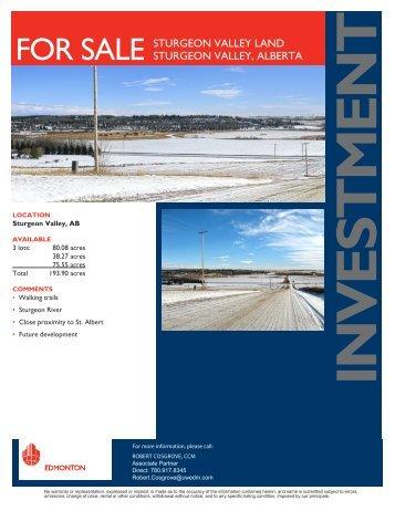 for sale sturgeon valley land sturgeon valley, alberta