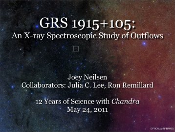 An X-ray Spectroscopic Study of Outflows - Chandra X-Ray ...
