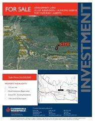 Draper Road Land Sale Brochure Fort McMurray.indd