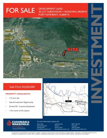 Draper Road Land Sale Brochure Fort McMurray.indd