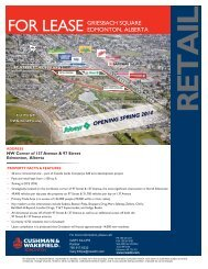FOR LEASE GRIESBACH SQUARE EDMONTON, ALBERTA