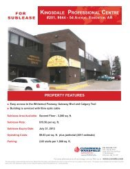 Kingsdale Professional Centre Brochure - 2009.indd