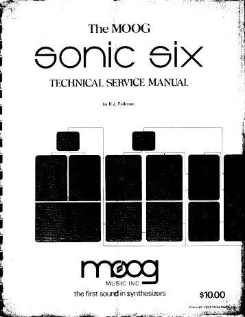 Moog Sonic 6 Technical Service Manual - Lojinx