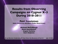 Results from Observing Campaigns on Cygnus X-3 During 2010-2011