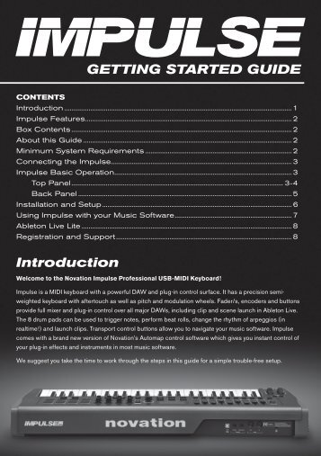 GETTING STARTED GUIDE Introduction - Novation