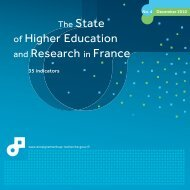 The State of Higher Education and Research in France
