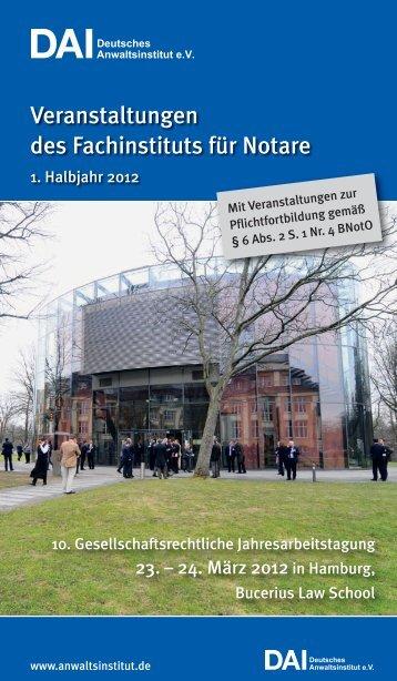V E R S IO N ... w w w .s igm a nota r.de - Deutsches Anwaltsinstitut ev