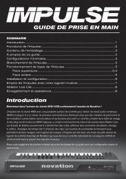 GUIDE DE PRISE EN MAIN Introduction - Novation