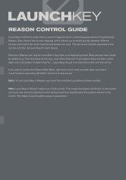 Launchkey Reason Control Guide - Novation