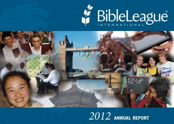 AnnuAl RepoRt - Bible League