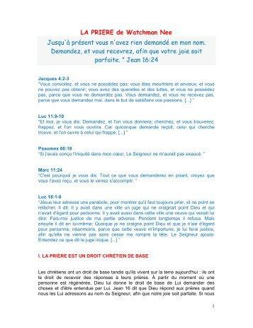 REPONSES A LA PRIERE G MULLER.pdf - la Priere change le Monde