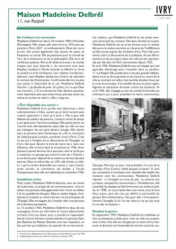 Lire la biographie réalisée par le service municipal ... - Ivry-sur-Seine