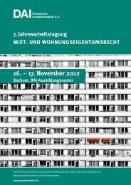 17. november 2012 - Deutsches Anwaltsinstitut ev