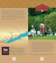 Nichée entre le fleuve St-Laurent et le Massif de Petit-Rivière St ...