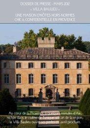Au cœur de la Provence, à quelques minutes d'Aix, nichée dans le ...