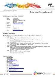 ISPO Academy Barcelona - 27.05.2013
