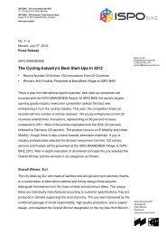 2012 ISPO Bike BRANDNEW AWARD - Vespertine