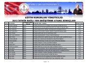 Sonuç Listesi İçin Buraya Tıklayınız - İstanbul İl Milli Eğitim Müdürlüğü