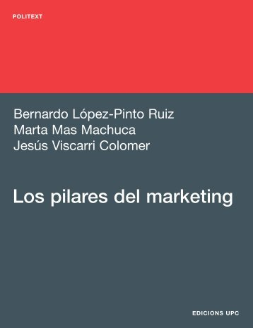 Coberta Los pilares del marketing189x246.indd - e-BUC