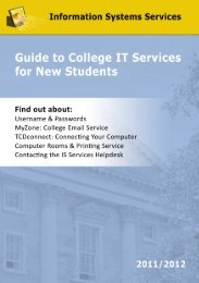 Guide to College IT - Information Systems Services - Trinity College ...