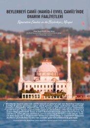 Beylerbeyi Camii - İSTANBUL (1. Bölge) - Vakıflar Genel Müdürlüğü