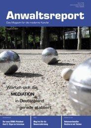 Warum sich die MEDIATION in Deutschland ... - Anwalt-Suchservice