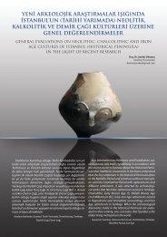 Yeni Arkeolojik Araştırmalar Işığındaİstanbul'un (Tarihi Yarımada)