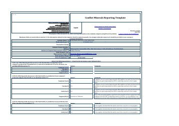 Conflict Minerals Reporting Template - Philips