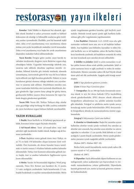 yayın ilkeleri - İSTANBUL (1. Bölge)