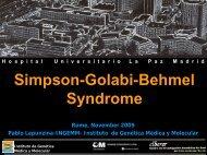 Simpson-Golabi-Behmel Syndrome - Istituti