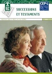 SUCCESSIONS ET TESTAMENTS - Union luxembourgeoise des ...