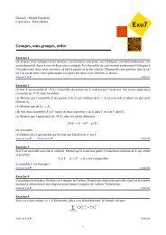 Groupes, sous-groupes, ordre - Exo7 - Emath.fr