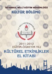 içindekiler - İstanbul İl Milli Eğitim Müdürlüğü - Milli Eğitim Bakanlığı