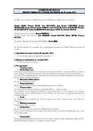 Rapport Octobre 2011 - Réseau des Communes
