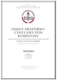 ANKET-ARAġTIRMA- UYGULAMA ĠZĠN KOMĠSYONU
