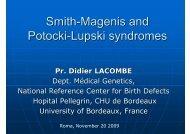 Smith-Magenis and Potocki-Lupski syndromes - Istituti