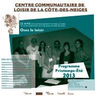 télécharger - Centre Communautaire de Loisir de la Côte-des-Neiges