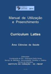 MANUAL DO USUÁRIO DO CURRICULO LATTES - Incor - USP