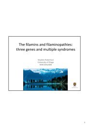 The filamins and filaminopathies: three genes and multiple ... - Istituti