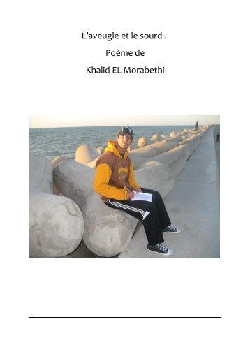 L'aveugle et le sourd . Poème de Khalid EL Morabethi