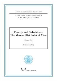 Poverty and Subsistence The Mercantilist Point of View - Istituti ...