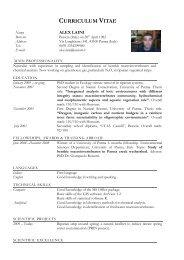 curriculum vitae - Istituti
